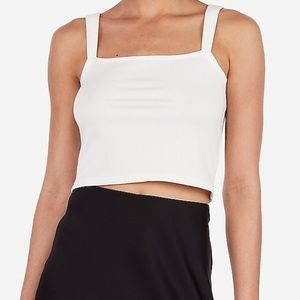 Rocky Barnes Ribbed Square Neck Cropped Cami